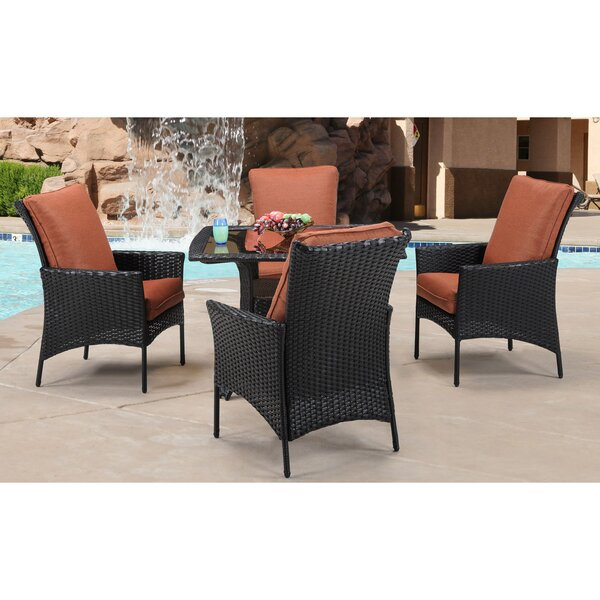 Billington 5 Piece Dining Set with Cushions by Brayden Studio