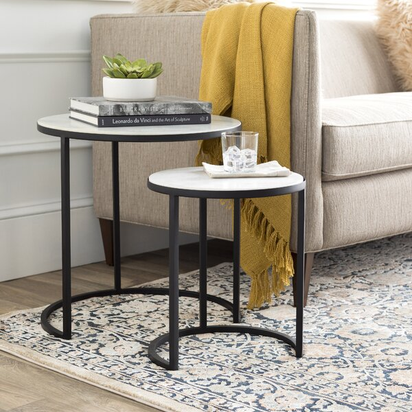 Hiram 2 Piece Nesting Tables by Latitude Run