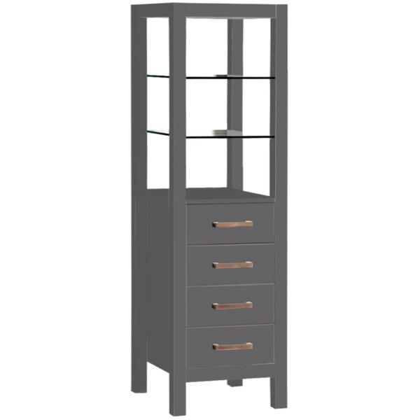 Strother 16 W x 63 H x 16 D Solid Wood Linen Cabinet