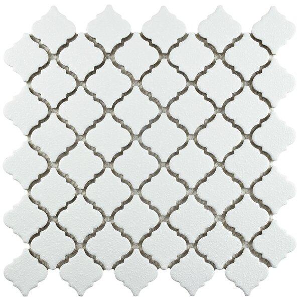 Pharsalia Minerva 12.38 x 12.5 Porcelain Mosaic Floor and Wall Tile in White by EliteTile