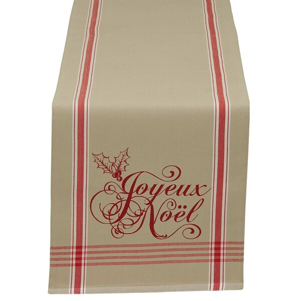 Joyeux Noel Printed Reversible Table Runner by Design Imports
