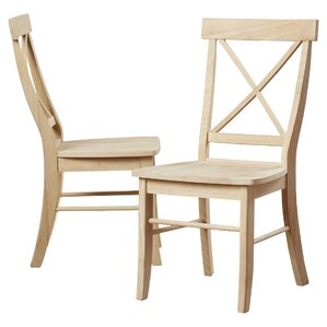 sawyer cross back solid wood dining chair set of 2