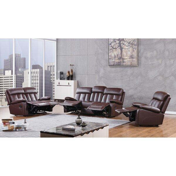 Dunbar Reclining 3 Piece Living Room Set by American Eagle International Trading Inc.