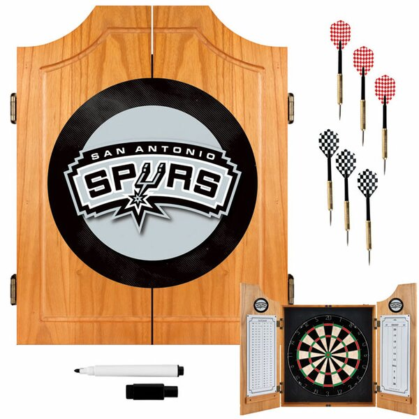 NBA Wood Dart Cabinet Set by Trademark Global