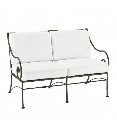 Sheffield Loveseat with Cushions by Woodard