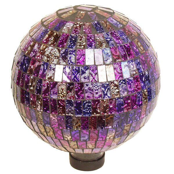 Parti-Colored Mosaic Gazing Globe by Echo Valley