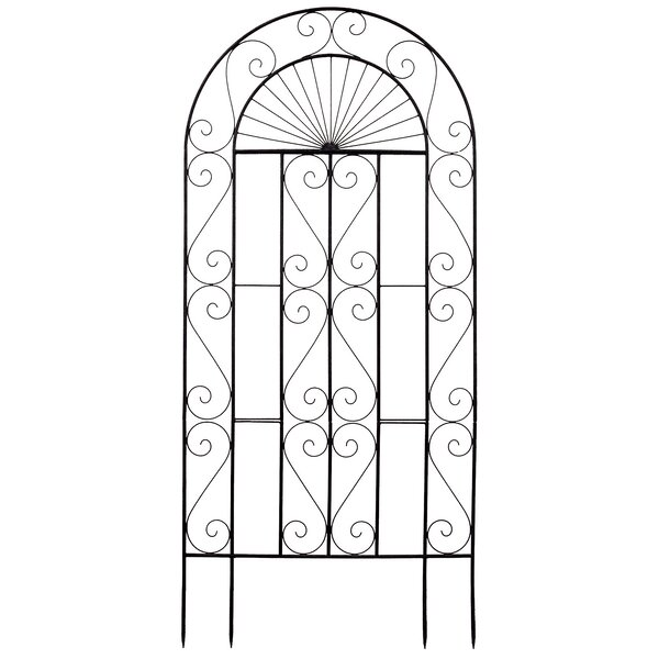 Sunset Steel Arched Trellis by Deer Park Ironworks