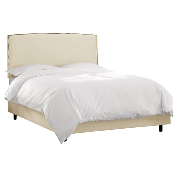 Mara Upholstered Platform Bed by Skyline Furniture