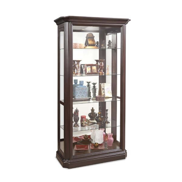 Rhett Lighted Curio Cabinet by Loon Peak