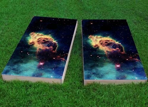 Space Dust Cornhole Game (Set of 2) by Custom Cornhole Boards