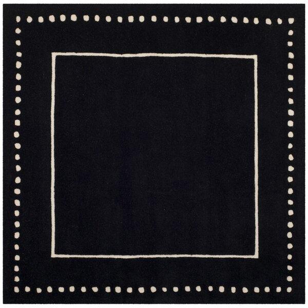 Amundson Hand-Tufted Black/Beige Area Rug by Charlton Home