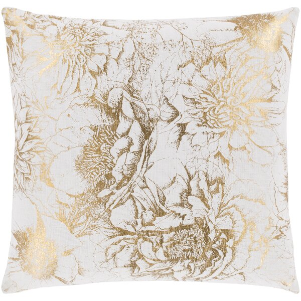 Crescent Transitional Cotton Throw Pillow by Surya