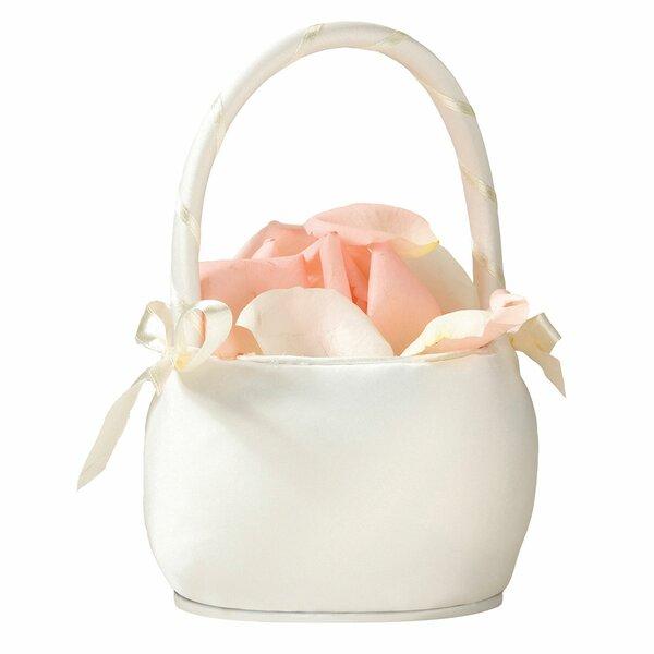 Satin Flower Girl Basket by Lillian Rose