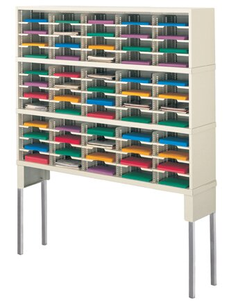 60 Pocket Mail Sorter with Tall Riser by Charnstrom