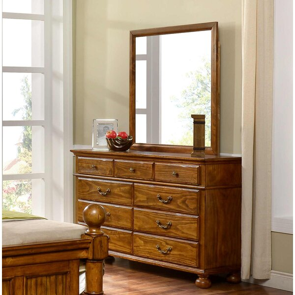 Jarvis 9 Drawer Dresser with Mirror by Alcott Hill