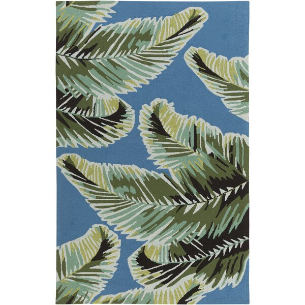Averill Dark blue/ Emerald Indoor/Outdoor Area Rug by Bay Isle Home