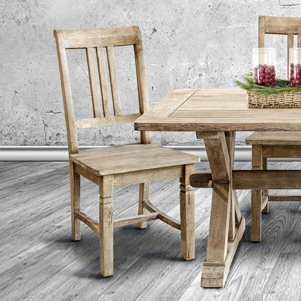 Rhyne Solid Wood Dining Chair (Set of 2) by Millwood Pines