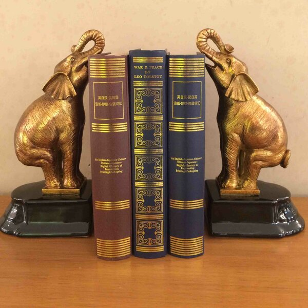 Elephant Bookends (Set of 2) by Westmen Lights
