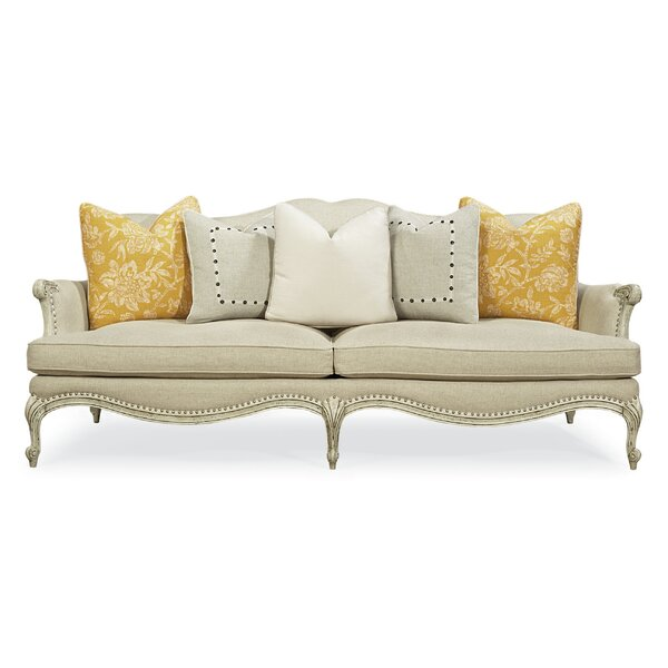 French Exposed Frame Sofa by Caracole Classic