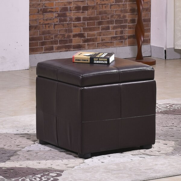 Upholstered Storage Ottoman by Bellasario Collection