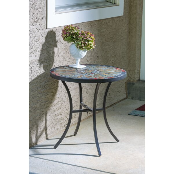 Almonburry Metal  Side Table by Bungalow Rose