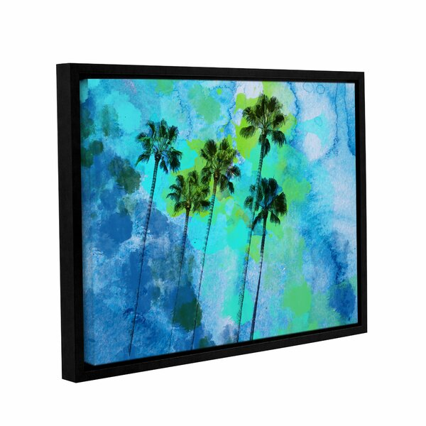 Palm Trees on The Beach Framed Painting Print on Wrapped Canvas by Bay Isle Home