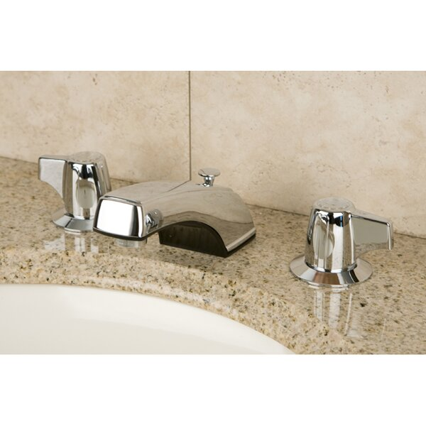 Americana Widespread Bathroom Faucet with ABS Pop-Up Drain by Kingston Brass