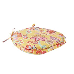 Floral Scotchgard Outdoor Dining Chair Cushion (Set of 2)