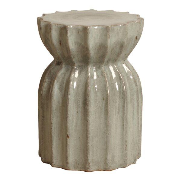 Aloysius Ceramic Garden Stool by Bungalow Rose