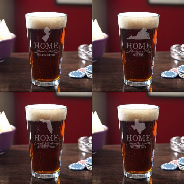 Your Home State 3 Piece Glass Pint Glass Set by Home Wet Bar