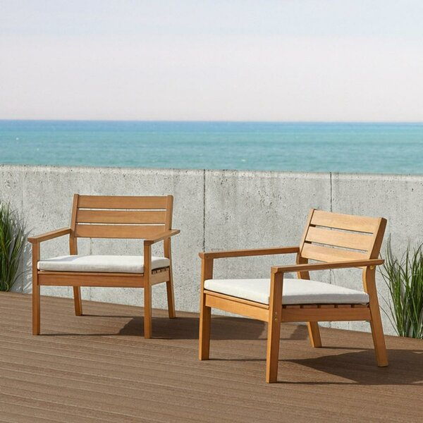 Hale Casual Patio Chair with Cushions (Set of 2) by Real Flame Real Flame