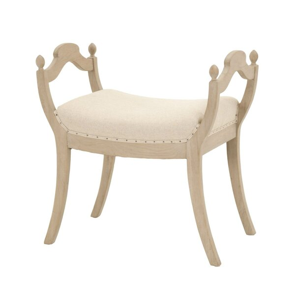 Chenai Accent Stool by Bungalow Rose