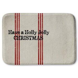 Holly Jolly Christmas Memory Foam Bath Rug