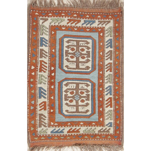 One-of-a-Kind Munford Milas Turkish Oriental Red/Burgundy Area Rug by Isabelline