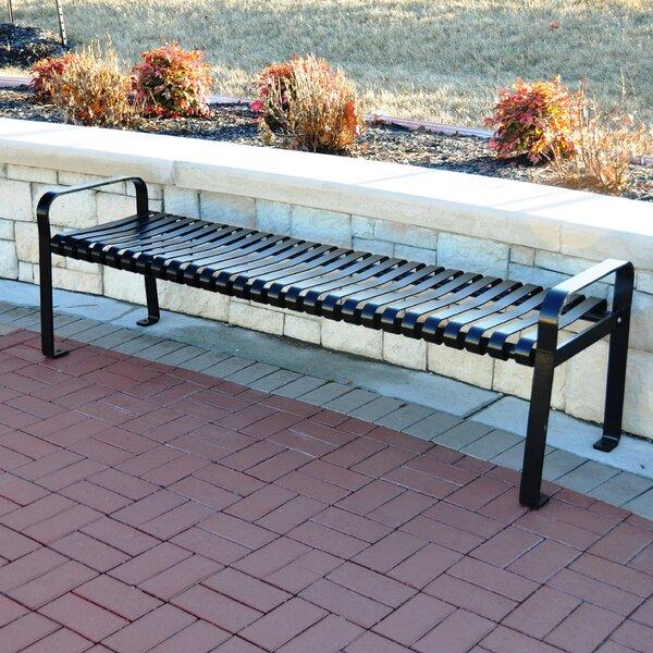 Aspen Steel Park Bench by Frog Furnishings
