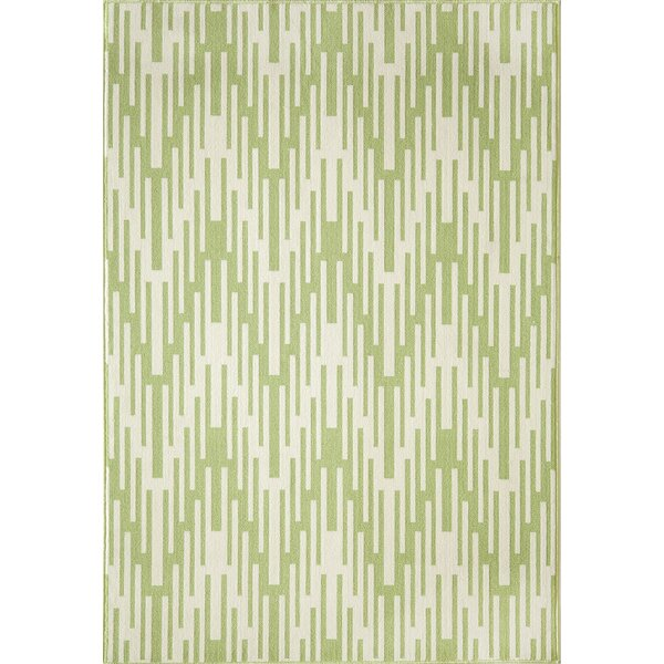 Wexler Hand-Woven Green Indoor/Outdoor Area Rug by Wrought Studio