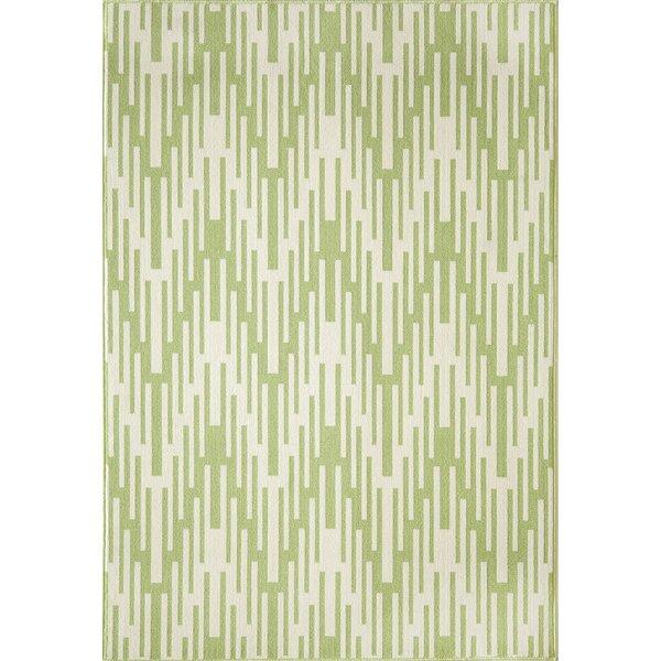 Wexler Hand-Woven Green Indoor/Outdoor Area Rug by