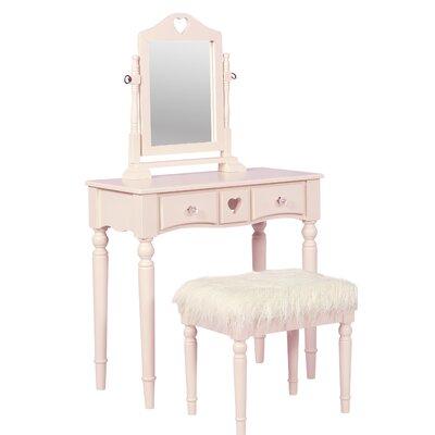 Lozada Vanity Set with Mirror  sc 1 st  Wayfair & KidKraft Deluxe 2 Piece Vanity Set with Mirror u0026 Reviews | Wayfair