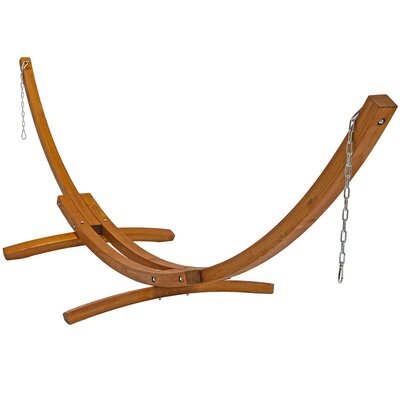 angela curved arc wood hammock stand byer of maine ceara hammock stand  u0026 reviews   wayfair  rh   wayfair
