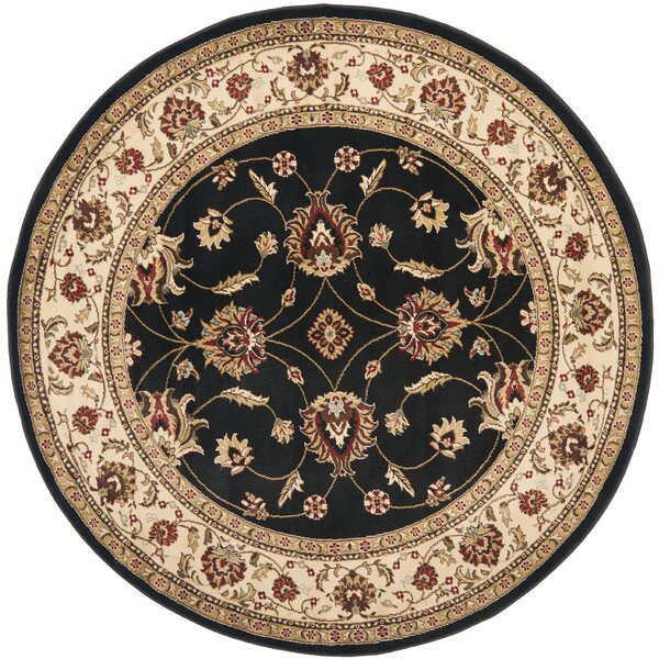 Ottis Black/Ivory Persian Area Rug by Charlton Home