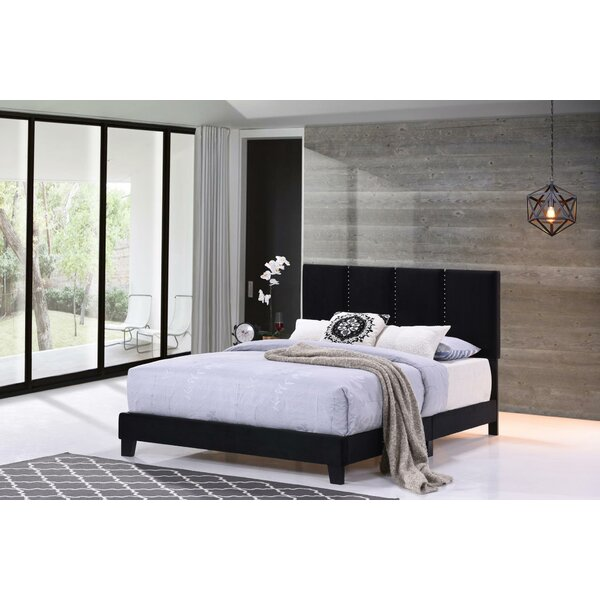 Quakertown Panel Queen Upholstered Standard Bed by Wrought Studio