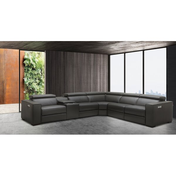 Picasso Leather Reversible Sectional by J&M Furniture