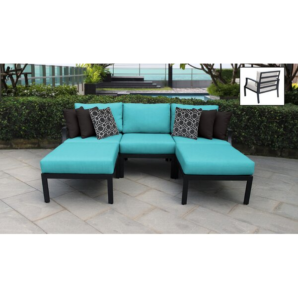 Benner 5 Piece Rattan Sectional Seating Group with Cushions (Set of 5) by Ivy Bronx