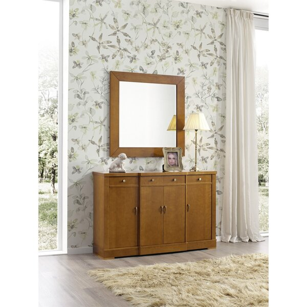 Hiltonia 4 Drawers Sideboard with Mirror by Ivy Bronx Ivy Bronx