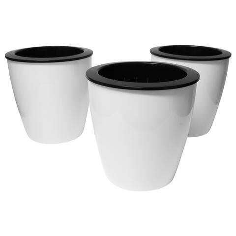 Self Watering Plastic Pot Planter Set (Set of 3) by Evelots