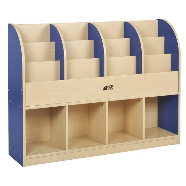 Colorful Essentials 8 Compartment Book Display with Trays by ECR4kids