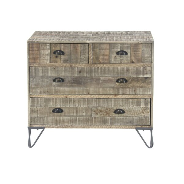 Alsey Rustic Teak and 4 Drawer Accent Chest by Foundry Select