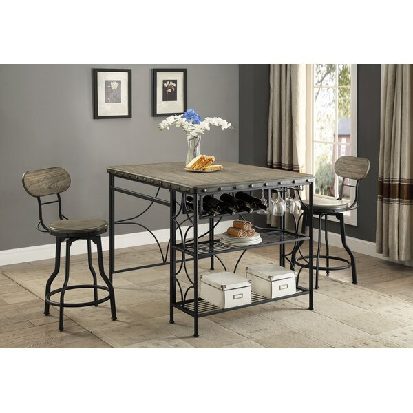 Paisley 3 Piece Counter Height Dining Set by Gracie Oaks