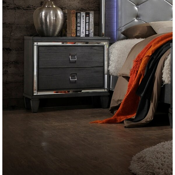 Ezio 2 Drawer Nightstand by House of Hampton