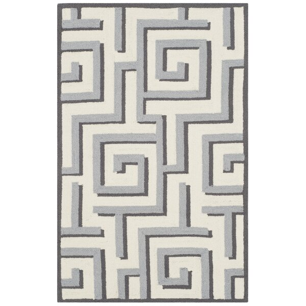 Naya Ivory/Gray Indoor/Outdoor Area Rug by Ivy Bronx